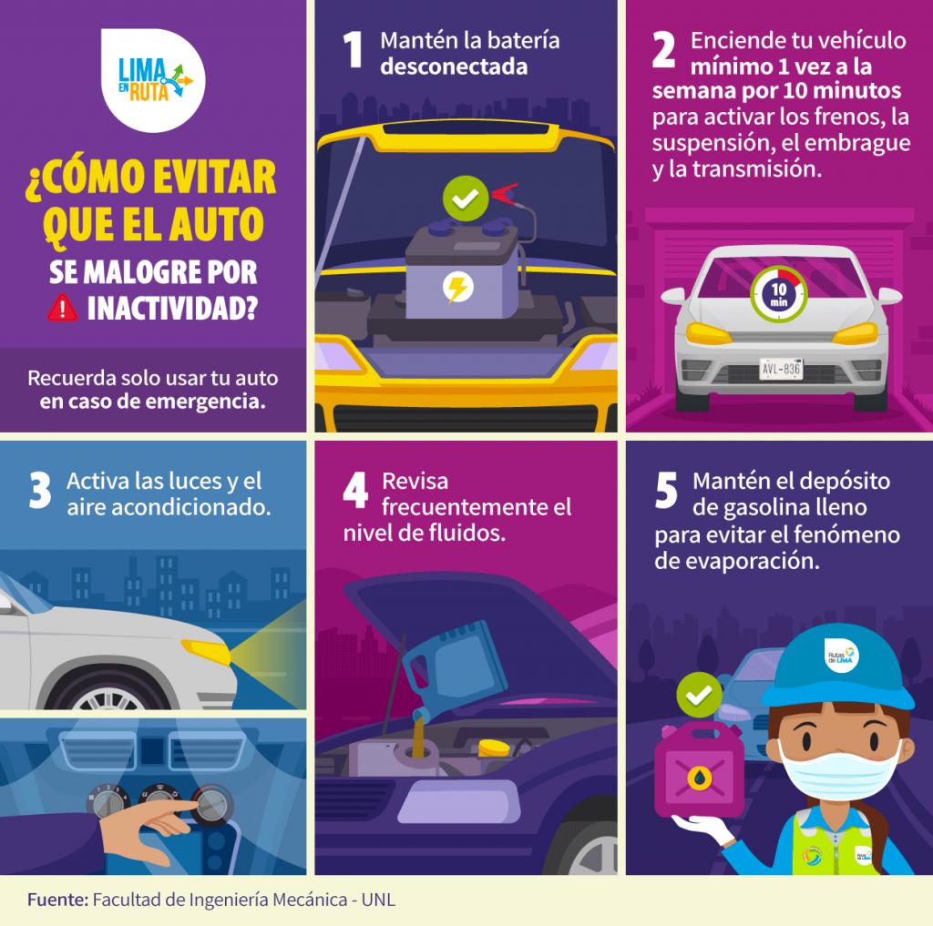 Tips para el cuidado del auto durante la cuarentena COVID 19